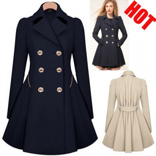 Commuter slim slim coat trench coat