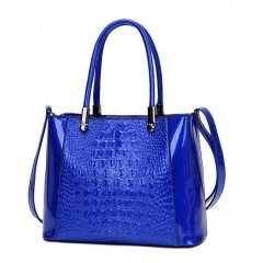 Fashion crocodile pattern handbag female bag Messenger mother bag bucket bag