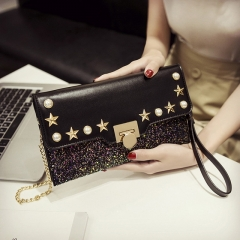 Studded Messenger Bag Personality Fashion Wild Temperament Lady Clutch Bag Female