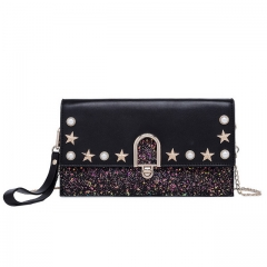 New fashion rivet shoulder clutch bag wild evening bag