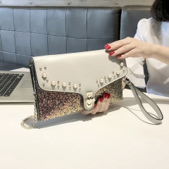 Fashion hand shoulder bag, gorgeous sequins decorative pouch