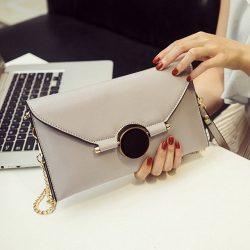New clutch bag shoulder bag simple handbag bow