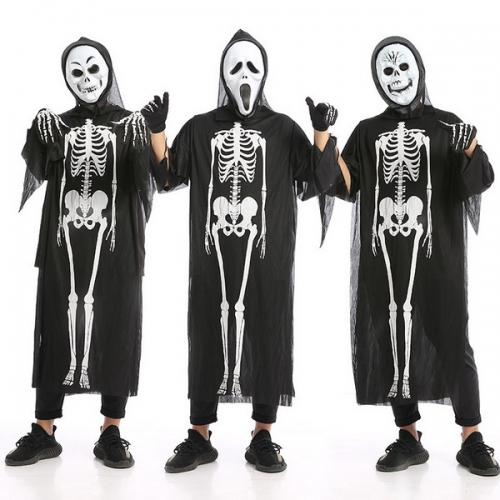 Halloween costume adult cosplay show masquerade skeleton skeleton costume ghost costume horror clothes mask