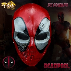 Marvel anime Deadpool dead mask cosplay resin mask performance dress up props