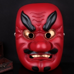 Halloween Movie Theme Resin Drama Buddhist Prajna Mask Japanese Samurai Tengu Mask