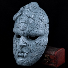 Halloween horror jojo fantastic adventure stone statue cos stone face medicos stone ghost makeup mask