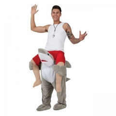 Shark doll riding animal back magical leg pants
