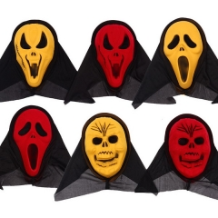 New Carnival Halloween PVC Monolithic Flocking Devil Horror Mask