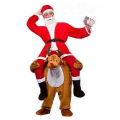 Christmas Elk Back Man Riding Pedestrian Mounted Animal Back Devil's False Leg Pants