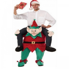 Christmas Elf Back Man Riding Pedestrian Mounted Animal Back Devil's False Leg Pants