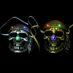 Glowing pirate mask Halloween skull pirate mask ghost mask mask party performance mask