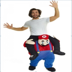 Super Mario Back Man Riding Pedestrian Mounted Animal Back Devil's False Leg Pants