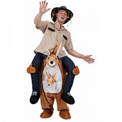 Bunny back riding cyclist riding elephant animal back magical leg pants