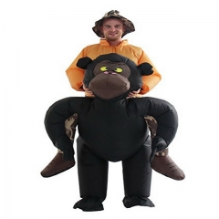 Gorilla, back riding, pedestrian, riding, animal, back, magical, fake leg pants