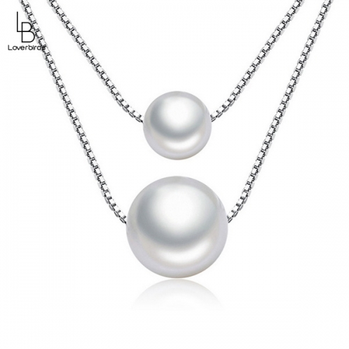 Fashion Jewelry Double Pearl Necklace Women Short Short Sweet Clavicle Chain