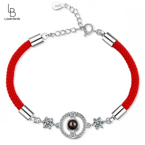 100 languages projection couple bracelet men and women models simple red rope love memory bracelet