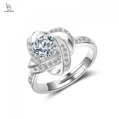 Ring female Korean fashion temperament wild diamond rotating ring tail ring