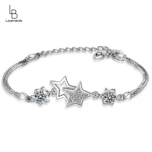 Pentagram bracelet female new Japanese and Korean fashion diamond bracelet