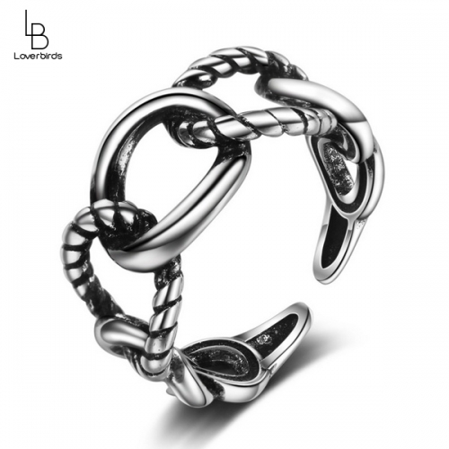 Hemp rope retro ring Korean hipster  retro open joint index finger ring little finger ring