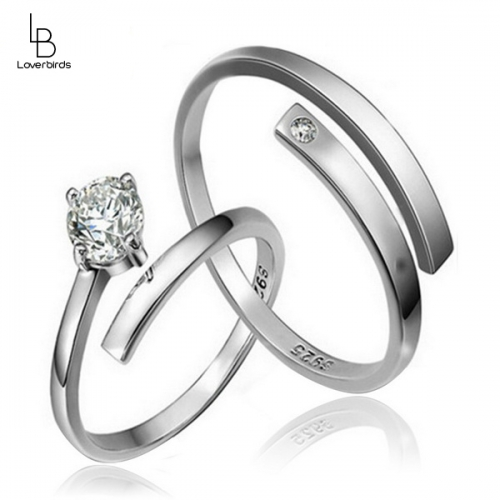 Couple Rings Open Men's and Women's Rings Fashion Wild Open Diamond Ring