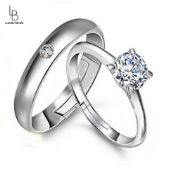 Couple's Ring Korean Version Open Diamond Ring Hand Jewelry