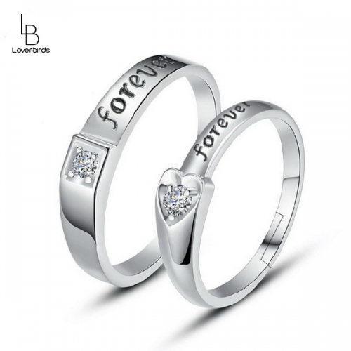 Couple ring opening size adjustable male and female ring