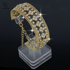 European and American fashion explosion bracelets square flower full diamond bracelet bracelet