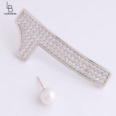 Korean fashion classic number 01 asymmetric exaggerated temperament earrings