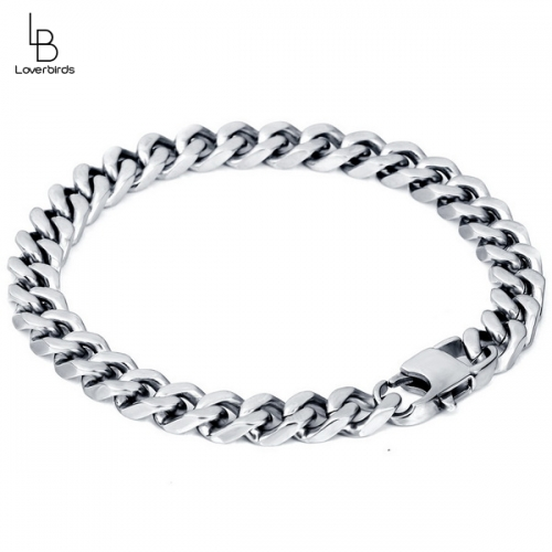 Domineering highlights personality wear jewelry men's fashion titanium steel bracelet 8MM does not fade