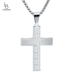 New European and American fashion titanium steel cross necklace stainless steel jewelry