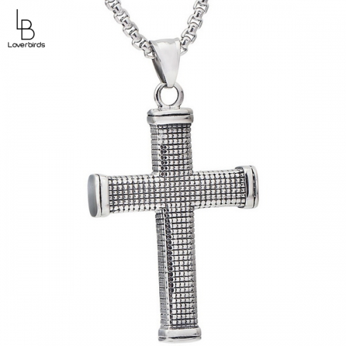 Vintage Titanium Steel Jewelry Cross Necklace Men's Gift Jewelry Personality Wild Trend Accessories Belt Chain