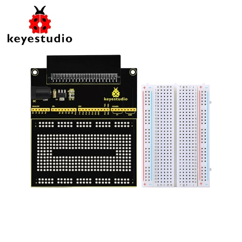 KEYESTUDIO Prototype Breakout Board V2 With 400-point Breadboard For BBC  Micro: Bit