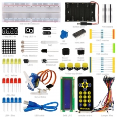 Free Shipping! Keyestudio Basic Starter Learning Kit (no UNO board) for Arduino Programming Education with LEDs+PDF