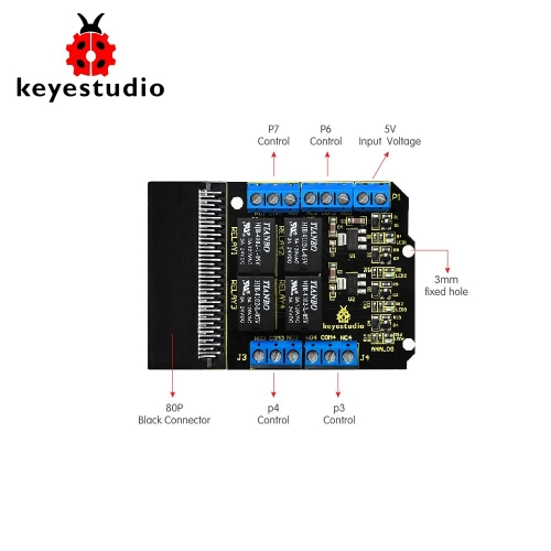 Keyestudio Relay Breakout Board for BBC Micro:Bit