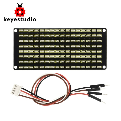 Keyestudio 8x16 LED Dot Matrix Board With PH 2.54 Connector +4Pin Cable For Arduino