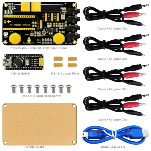 Keyestudio Scratch Kit for  Arduino Education Starter with Scratch Board +CH340 Nano board+ PDF Datasheet