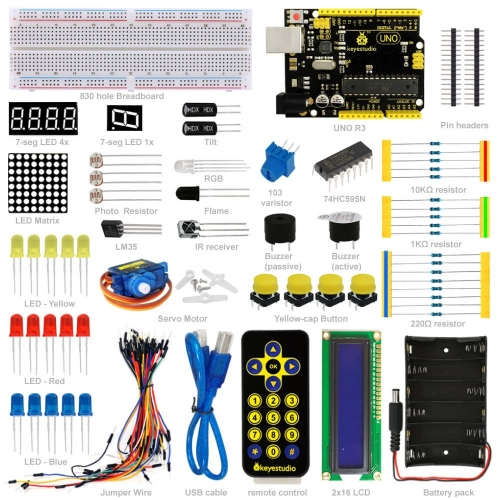 Free shipping! NEW! Keyestudio Basic Starter Learning Kit For Arduino Education Project With uno R3