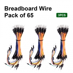 Free shipping! 3PCS Hi-Q 65 Male to Male  Jumper Wires Jumper Cable With keyestudio Packing  For Arduino DIY Breadboard