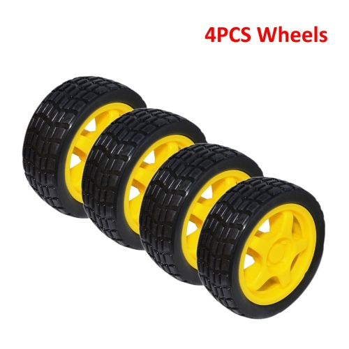 Free shipping! (4 pieces /LOT) Rubber wheel / tire wheel smart car /car wheel  for robot car 66 * 26.6mm