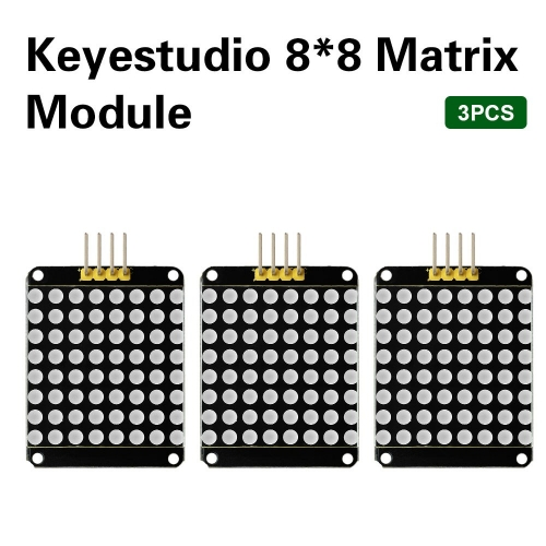 3PCS Keyestudio Red color common cathode I2C 8*8 LED dot Matrix module HT16K33 for Arduino UNO R3