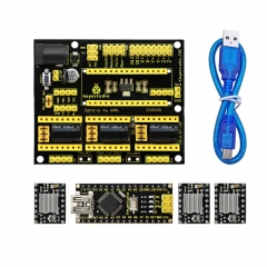 Free shipping! NEW! Keyestudio CNC shield v4 +3pcs A4988 driver+ Nano CH340  for Arduino CNC