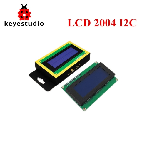 Free shipping! Keyestudio I2C LCD 20X4 2004 LCD Display Module For Arduino UNO R3 MEGA 2560 R3 White Letters on Blue Backlight