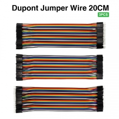 Free shipping ! 3PCS Keyestudio  Dupont line jumper wire Dupont cable  20cm M-F &M-M & F-F   for Arduino Projects
