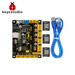 Keyestudio CNC V0.9A board+3pcs 4988 Driver W/Heat Sink + USB cable for arduino CNC/laser engraving machine/writing robots  GRBL