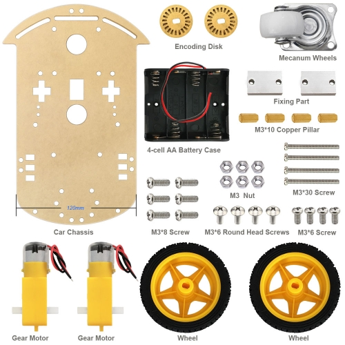 Free shipping!  Motor Smart Robot Car Chassis /Tracing car box Kit Speed Encoder +Battery Box For Arduino Robot