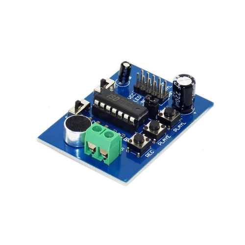 Free shipping !Voice ISD1820 blue pcb board /voice module/ recording module plate