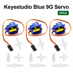 3 PCS keyestudio MINI SG90 9G  90 degrees Servo Motor  Blue with PH2.54 Connector  For Arduino Robot