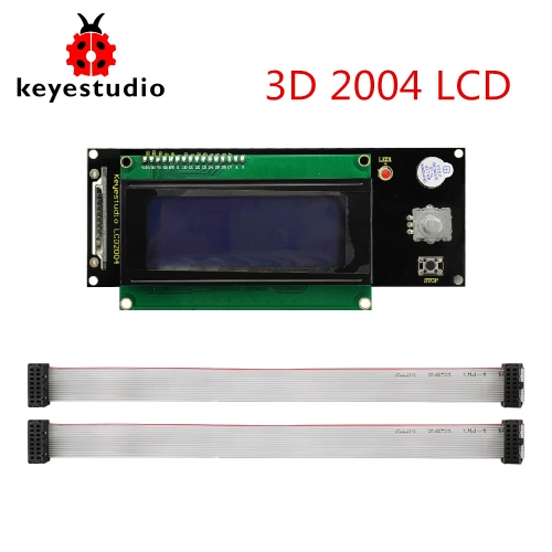 Keyestudio LCD2004 Display 3D Module With SD Card Slot + 30cm Cable For Arduino / 3D Printer