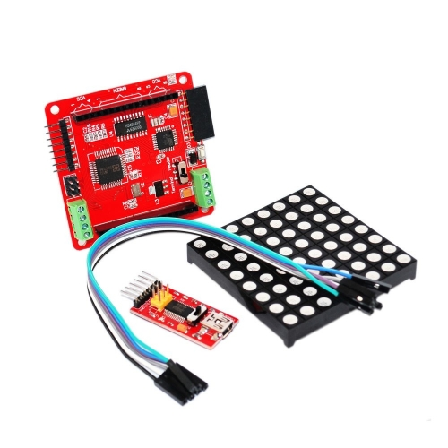 Free Shipping! Full Color RGB Kit for Arduino Programming Education 8 * 8 LED Dot Matrix Screen Driver Board