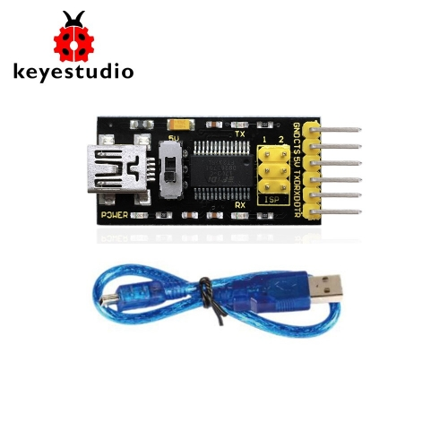 Keyestudio FTDI(original chips) Basic Program Downloader USB to TTL FT232+USB cable for Arduino
